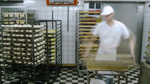 german baker working time lapse 11683 Footage