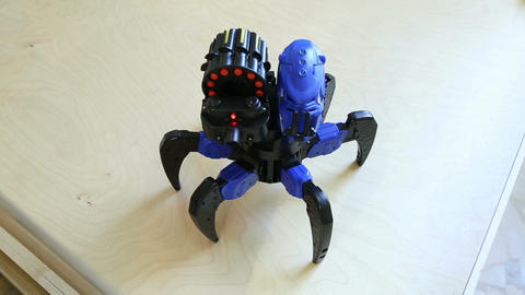 Robot spider shoots bullets Footage