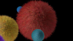 Fur Ball Planet stock footage