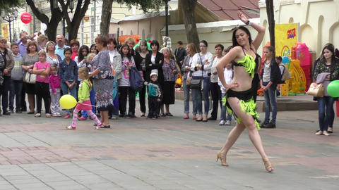 Dancing Girl stock footage