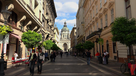 St. Stephen's Basilica In Budapest. 4K stock footage