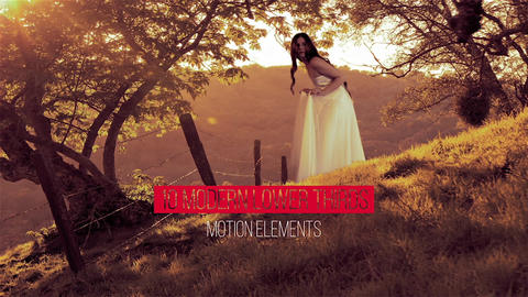10 Clean Modern Lower Thirds After Effectsテンプレート