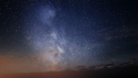 Milky Way And Clouds stock footage