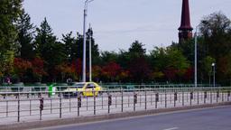 Bucharest, Romania - October 2015 Time lapse traffic, tilt Footage