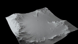 Mountain terrain_c4d 3D Model