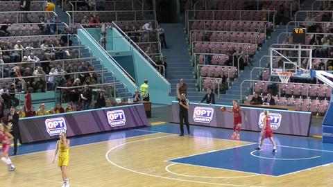 Girls play basketball Footage