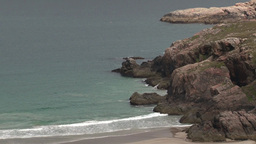 Rocky Coastline with beach Footage