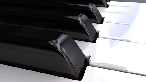 Self-playing Piano _ Part1 stock footage