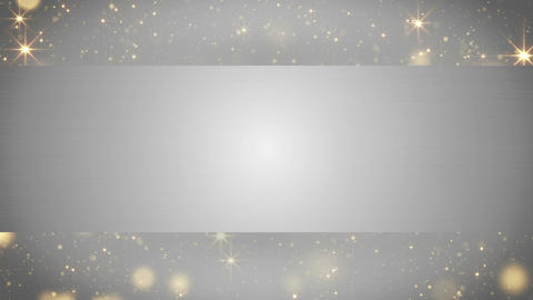 blank banner and holiday particles loop 4k (4096x2304) Animation