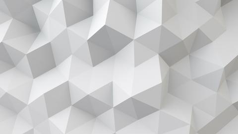 white polygonal geometric surface seamless loop 4k UHD (3840x2160) Animation