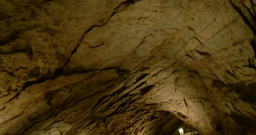 Cave Stairs Down 03 stock footage