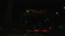 夜の首都高を走る車の中から眺める Footage