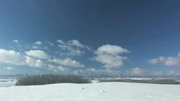 雪原と流れる雲 Footage