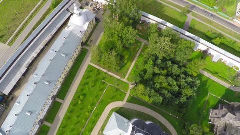 Flying over Spaso-Prilutsky monastery in Vologda Footage