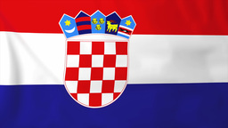 Flag Of Croatia stock footage