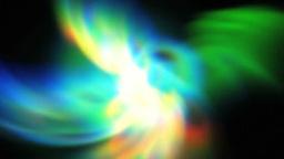 混じり合う七色のオーロラ stock footage