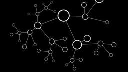増殖するネットワーク黒 stock footage