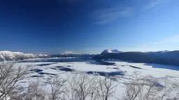 霧氷と結氷途中の摩周湖と摩周岳 Footage