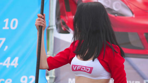 Drift girl Stock Video Footage
