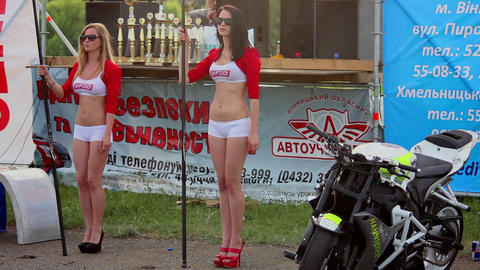 Drift girl Stock Video Footage