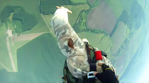 Parachute jump 1 Stock Video Footage