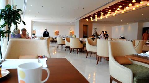 Restaurant in hotel Stock Video Footage