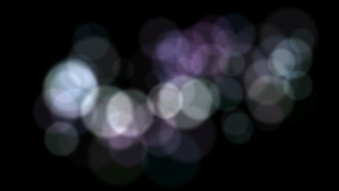 defocused circle lights drifting downwards,christmas background,blur street ligh Animation