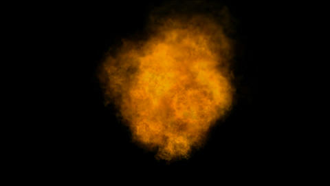burning Fire and smoke in universe,military and war oilfield explosion battlefie Animation