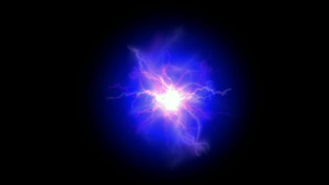 blue nebula and whirl laser,lightning,magnetic field,energy tech background,crys Animation