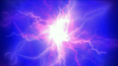 blue nebula and whirl laser,lightning,magnetic... Stock Video Footage