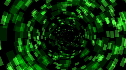 abstract rotation square array background,tech Science fiction tunnel hole Animation