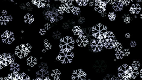 falling snowflake and particle at night,chrismas holiday Stock Video Footage