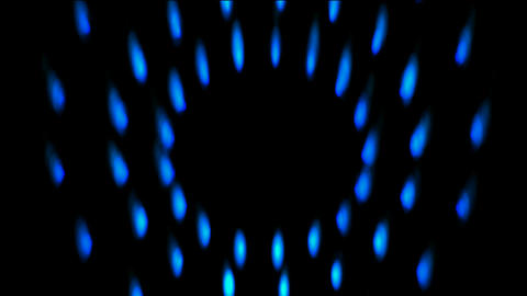 flare blue fire,circle flame particle,a gas stove being... Stock Video Footage