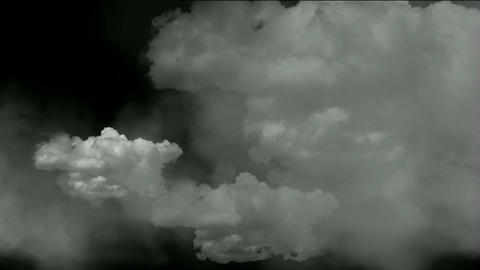 rolling clouds cover the sky,flying smoke Stock Video Footage