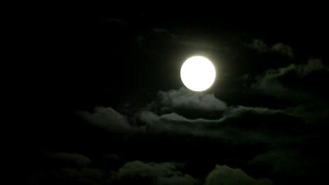 moon on the night the dark sky (Time Lapse) Stock Video Footage
