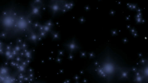 blue particles flying in universe... Stock Video Footage