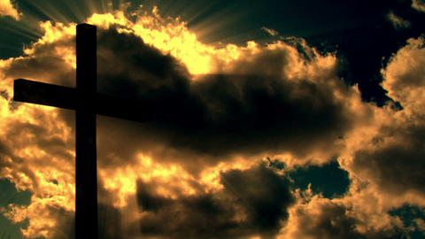 10696 cross clouds time lapse warm Stock Video Footage