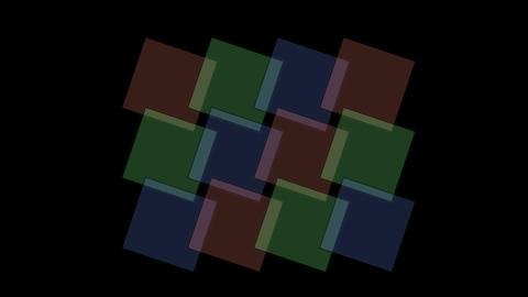 square tangram mosaics,color papers,plastic card,triangle... Stock Video Footage