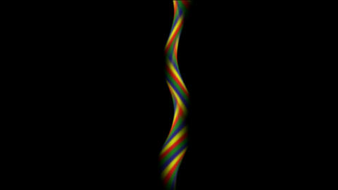 Electronic Signals Spiral,Abstract motion rainbow fancy... Stock Video Footage