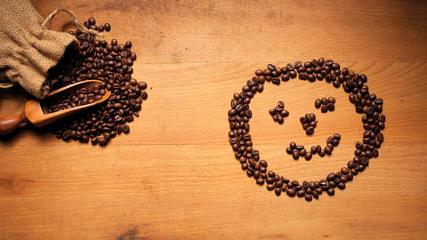 Coffee Bean Face Stock Video Footage