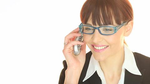 Phone Call Good News Stock Video Footage