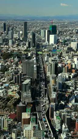 首都高速3号線と渋谷方向のビル群 Footage