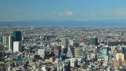 渋谷方向のビル群と富士山 Footage