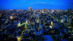 錦糸町方向の街並 夕景から夜景 Footage