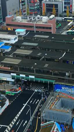 レインボーブリッジを流れる車と台場方向のビル群 Footage