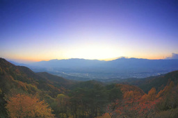 Autumn Leaves And Night View Seen From The Central Alps Such As Kisokomagatake stock footage