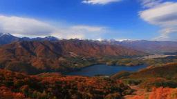 Shiroumadake In Autumn, Northern Alps Such As Kashimayarigadake, And Aoki Lake stock footage