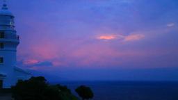 Sunset and Yakushima lighthouse Footage
