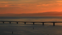 古宇利大橋と朝日と古宇利島 Footage