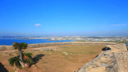 Nakagusuku Bay and inside the first enclosure seen from castle wall of the first Footage